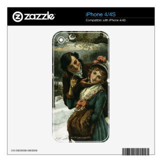 1887: A man tries to kiss a shy woman Decal For The iPhone 4S