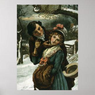 1887: A man tries to kiss a shy woman Poster