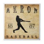 1887 Akron Ohio Baseball Ceramic Tiles