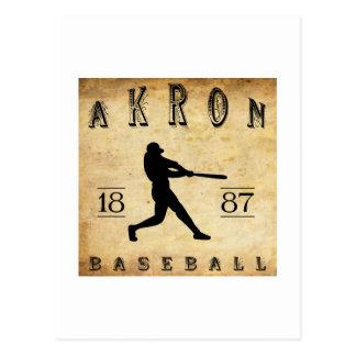 1887 Akron Ohio Baseball Postcards