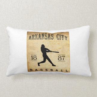 1887 Arkansas City Kansas Baseball Pillows