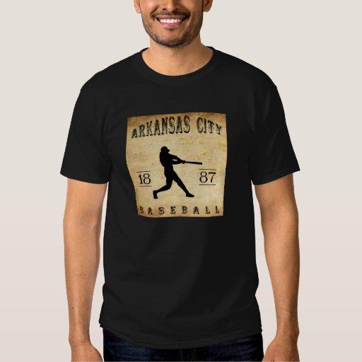1887 Arkansas City Kansas Baseball T-shirt