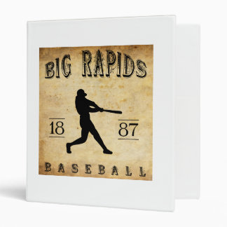 1887 Big Rapids Michigan Baseball 3 Ring Binder