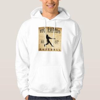 1887 Big Rapids Michigan Baseball Hoody