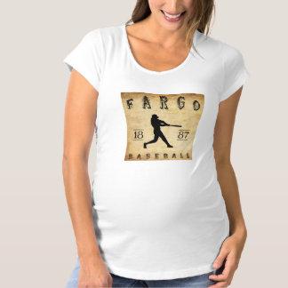 1887 Fargo North Dakota Baseball Maternity T-Shirt