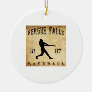 1887 Fergus Falls Minnesota Baseball Ceramic Ornament
