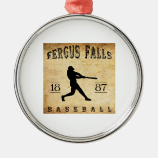 1887 Fergus Falls Minnesota Baseball Metal Ornament