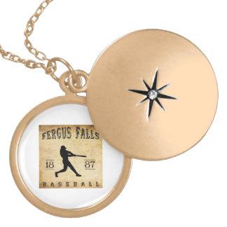 1887 Fergus Falls Minnesota Baseball Necklace