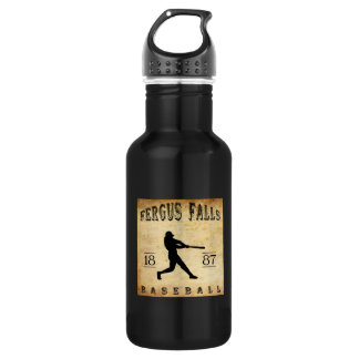 1887 Fergus Falls Minnesota Baseball Stainless Steel Water Bottle