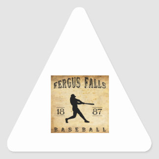 1887 Fergus Falls Minnesota Baseball Triangle Sticker