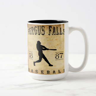 1887 Fergus Falls Minnesota Baseball Two-Tone Coffee Mug