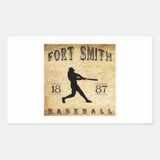 1887 Fort Smith Arkansas Baseball Rectangular Sticker