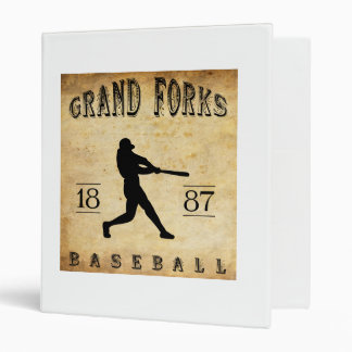 1887 Grand Forks North Dakota Baseball 3 Ring Binder