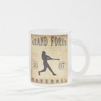 1887 Grand Forks North Dakota Baseball Frosted Glass Coffee Mug