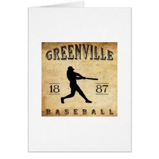 1887 Greenville Michigan Baseball Card