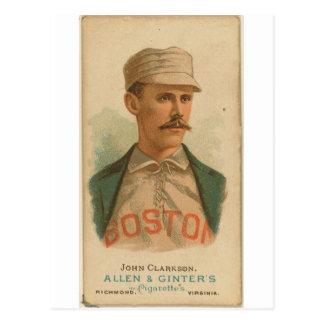 1887 John Clarkson Boston Beaneaters Postcard
