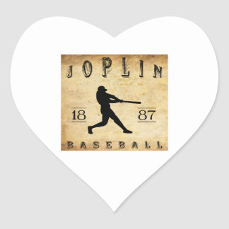 1887 Joplin Missouri Baseball Heart Sticker