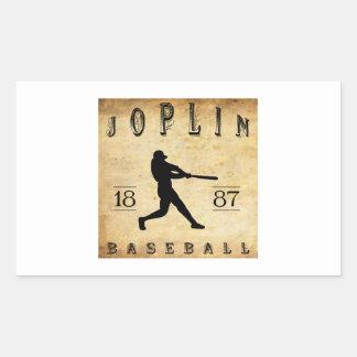 1887 Joplin Missouri Baseball Rectangular Sticker