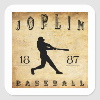 1887 Joplin Missouri Baseball Square Sticker