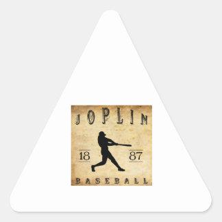 1887 Joplin Missouri Baseball Triangle Sticker