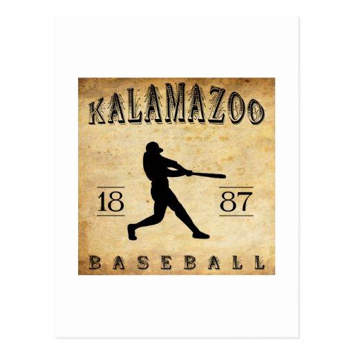 1887 Kalamazoo Michigan Baseball Postcard