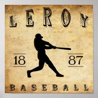 1887 Leroy New York Baseball Print
