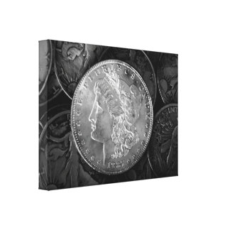 1887 Liberty Silver Dollar Canvas Print