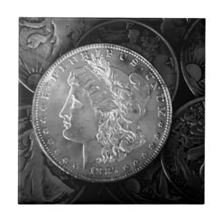 1887 Liberty Silver Dollar Tile