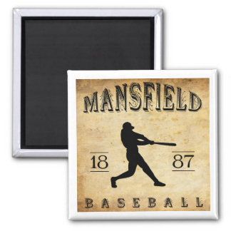 1887 Mansfield Ohio Baseball Magnet