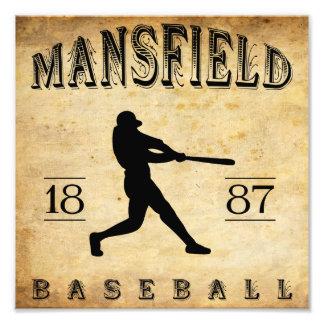 1887 Mansfield Ohio Baseball Photo Print