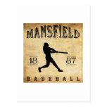 1887 Mansfield Ohio Baseball Postcard