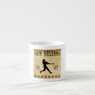 1887 New Orleans Louisiana Baseball Espresso Cups