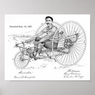 1887 Vintage Bicycle Tricycle Patent Art Print