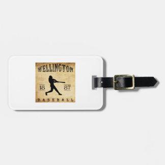 1887 Wellington Kansas Baseball Bag Tag