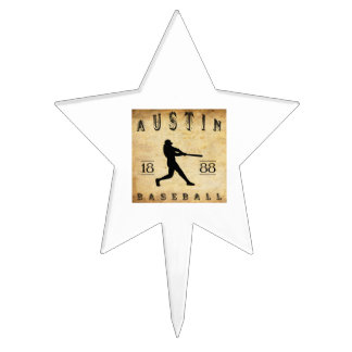 1888 Austin Texas Baseball Cake Pick
