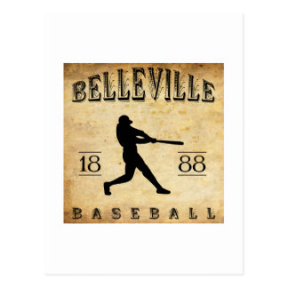 1888 Belleville New Jersey Baseball Postcard