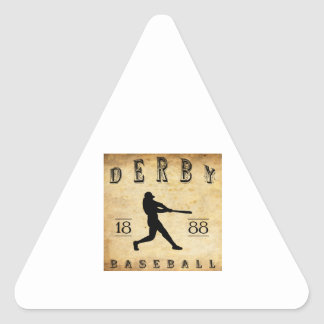 1888 Derby Connecticut Baseball Triangle Sticker