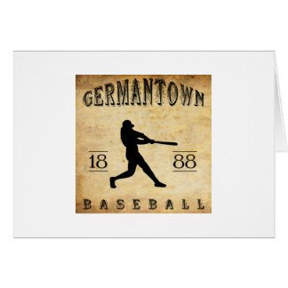 1888 Germantown Pennsylvania Baseball Card
