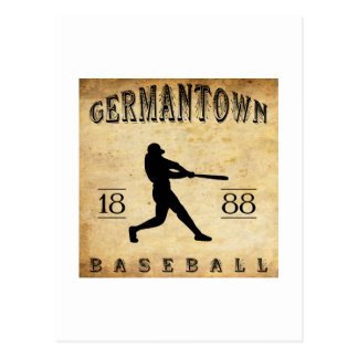 1888 Germantown Pennsylvania Baseball Postcard