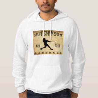 1888 Hutchinson Kansas Baseball Hooded Sweatshirt