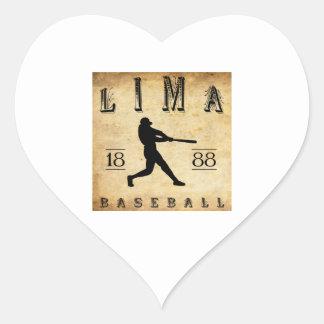 1888 Lima Ohio Baseball Heart Sticker