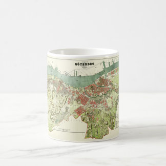 1888 Map of Gothenburg Sweden by Ludvig Simon Coffee Mug