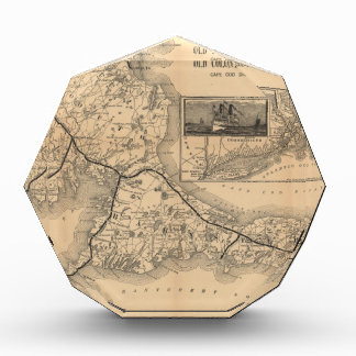 1888_Old_Colony_Railroad_Cape_Cod_map Acrylic Award