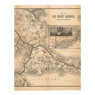 1888_Old_Colony_Railroad_Cape_Cod_map Letterhead