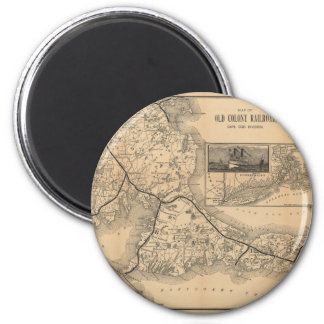 1888_Old_Colony_Railroad_Cape_Cod_map Magnet