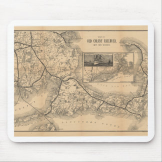 1888_Old_Colony_Railroad_Cape_Cod_map Mouse Pad