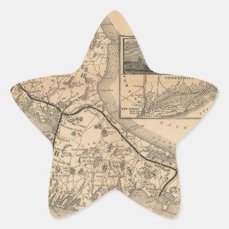1888_Old_Colony_Railroad_Cape_Cod_map Pegatina En Forma De Estrella