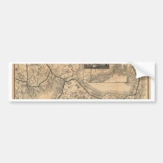 1888_Old_Colony_Railroad_Cape_Cod_map Pegatina Para Auto