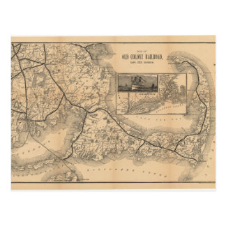 1888_Old_Colony_Railroad_Cape_Cod_map Postcard
