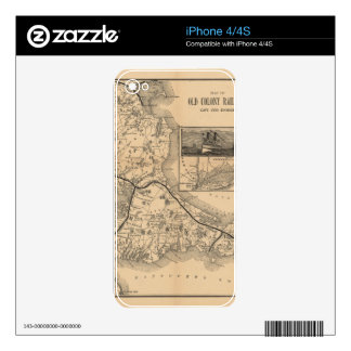 1888_Old_Colony_Railroad_Cape_Cod_map Skins For iPhone 4
